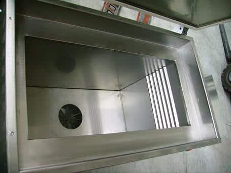 forni ad aria ventilata asciugatura metalli
